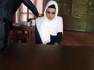 Sexy Arab babe banged by friend