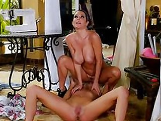 Mommy seduces her daughter to get nude and slutty