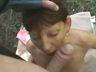 60 brunette granny knocked down by long thick cock mountain hiker