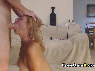 Blonde Milf Rough Face Fuck