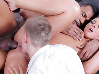 Trashy Wife Fucked by Black in Front of Hubby