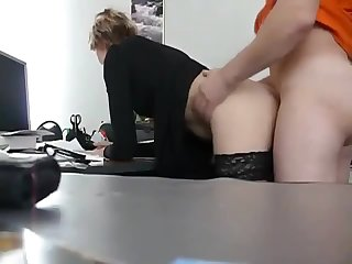 Real Secretary Gets Fucked In The Office