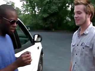 Ginger hair Primo weed fucking with big black dick new found boyfriend