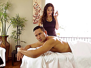 Tori Mayes is a lovely shemale who cannot resist a hunk's dick