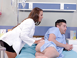 Horny doctor Abigail Mac lets a guy fuck her tight cunt
