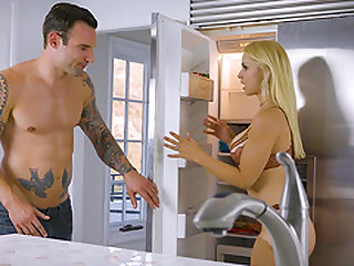 Sarah Vandella is a tattooed blonde who loves sucking a dick