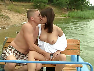 Amazing summer shag with insatiable brunette girl Rita