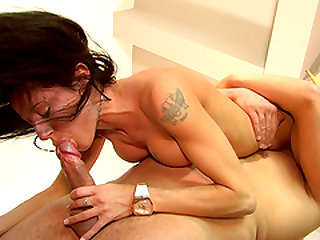 Jersey Pley is a hot brunette who loves riding a cock