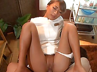 Experienced babe loves making a hunk's cock rock hard