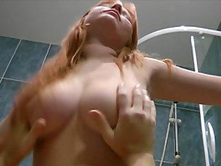 Redhead honey wants to ride a lucky man's hard boner
