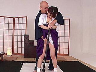Cute babe Yuri Sasahara wants to taste a hunk's love load