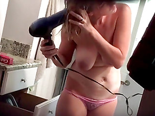Busty Wife In Shower Cam