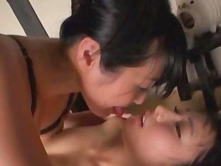 Nomiku Abe and her girlfriend enjoy a big strap-on