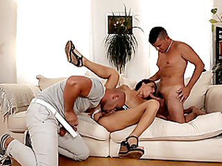 Two cocks are all Samantha Johnson wants to feel in her holes