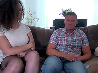 Chubby chick Kloe White wants to bounce on a big boner