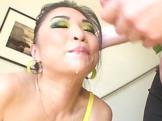 Petite and fun loving Asian MILF, Mia Rider, has giant tits and a