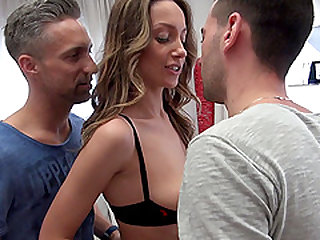 Hazel Dew cannot wait to be penetrated by two nasty lover