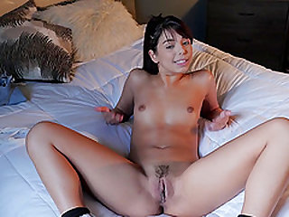 Amazing solo performance with a lustful cutie Gina Valentina