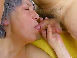 Horny grandma playing and masturbating with sex toys