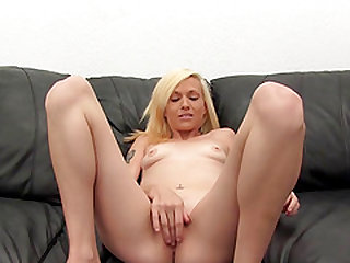 Skinny blonde screaming while her anal is pounded hardcore