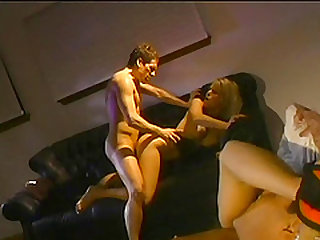 Cuckold hubby watches as hot wife gets nailed hardcore