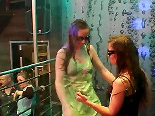 Stunning lesbian Luna twerking seductively in an orgy