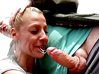 Horny blonde MILF is in need of a lover's big fat boner