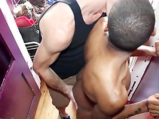 Black dude gets banged in public. For Part2 Visit   straightboysuncovered.webcam