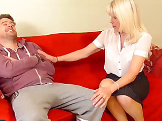 Lusty matures blowjob and hardcore sex with handy men