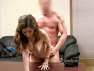 Ronni gets completely naked to have her twat smashed with a dong