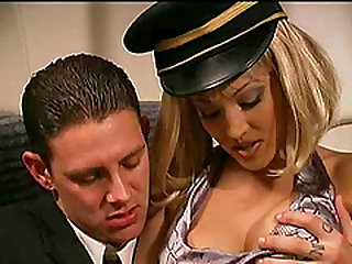 Big tits model having her anal fucked hardcore in the plane
