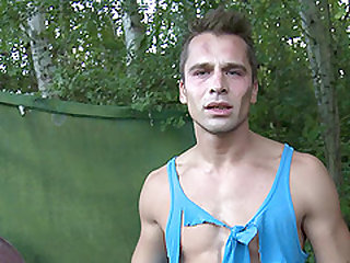 Big booty gay moaning while his ass gets pounded hardcore outdoor