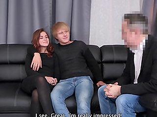 Sweet girl Emma J spreads her legs for a boyfriend's dick