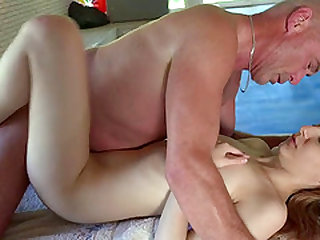 Emily Rose seduces an elderly masseur for a nice fuck