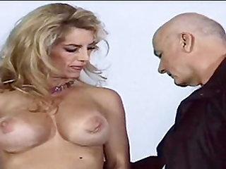 Slutty hot blonde fucks with aged