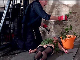 Stinging nettle bdsm and amateur bondage of tortured slaveslut Lolani in extreme pain