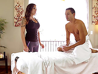 Tori Mayes is a hot masseuse who knows how to handle a cock