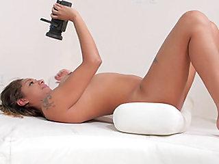 Sexy Trista knows how to handle a massive black boner