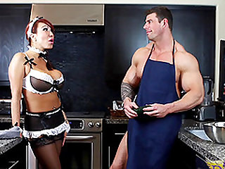 Ava Devine craves a handsome hunk's massive dick up her hole