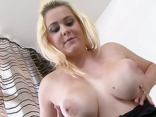 Blonde Paris Sweet spreading and having her cunt ravaged