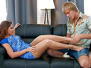 Teen Emma Brown Gets Her Pussy Fingered Fucked and Creampied