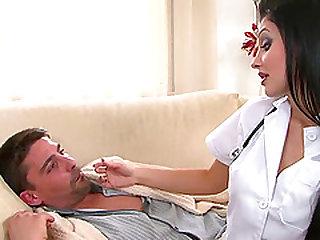 Boobed Aletta is kinky nurse