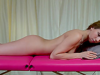 Naomi Swan bend over while her pussy is pleasured using toy