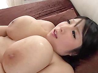 Massive-titted sex bomb Shizuku Amayoshi having her pussy smashed