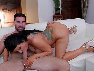 Romi Rain knows how to handle a fellow's erected boner