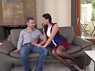 Carolina June seduced by a couple of nasty stallions