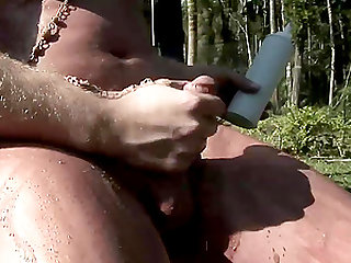 Nasty shemale is ready to cum hard by tireless salami-stroking