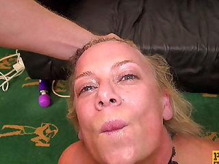 Mature Sasha Steele is an obedient slave in need of a hard cock
