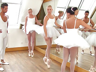 Cayla Lyons and her petite friends enjoy a massive cock