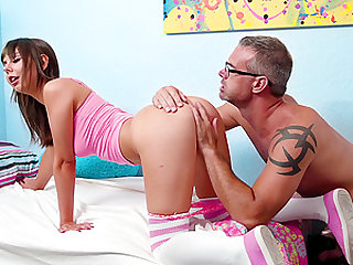 Shae Celestine cannot wait to ride a mature lover's penis